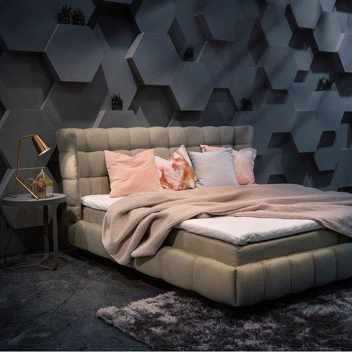 Кровать с мягким изголовьем Модель №5