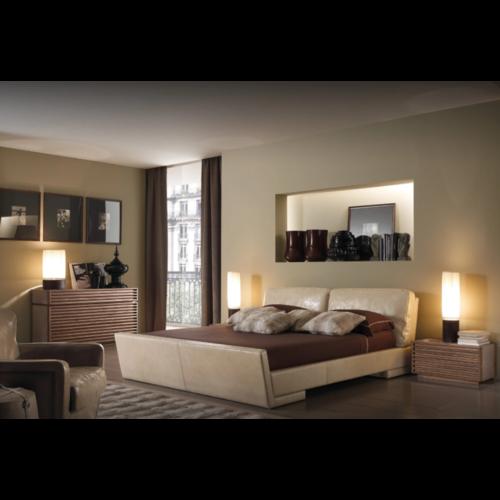 Кровать с мягким изголовьем Модель №9