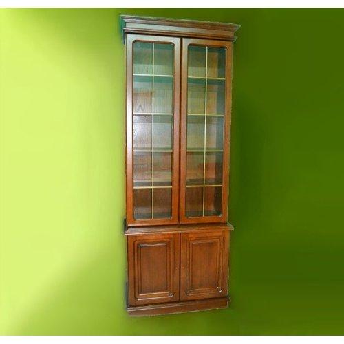 Книжный шкаф для кабинета КОМАНДОР 2 открытый ЮрВит