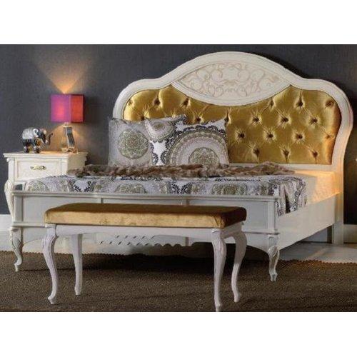 Кровать MАТТЕО Avorio Patinato 1600/1800 круглое изголовье ткань Mobex