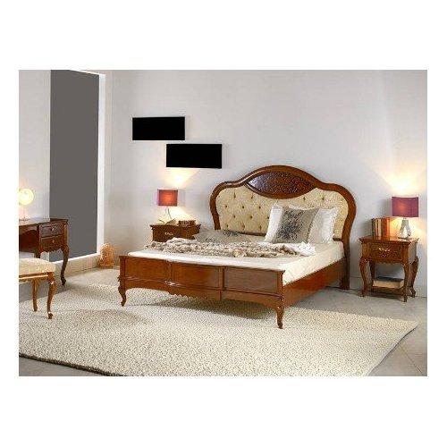 Кровать MАТТЕО Ciliegio 1600/1800 круглое изголовье ткань Mobex