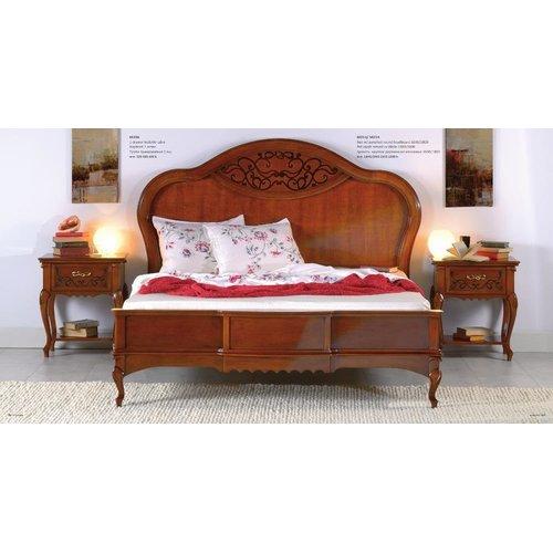 Кровать MАТТЕО Ciliegio 1600/1800 круглое деревянное изголовье Mobex