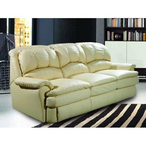 Кожаный диван реклайнер трехместный Carolina