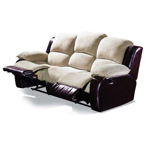 Кожаный диван реклайнер трехместный Louisiana