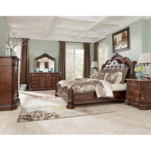 Деревянная кровать King Ledelle B705-56-58-97
